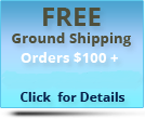 Free Ground Shipping on orders of 100 dollars or more, supply orders are exempted, click here for more details